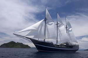 Dewi Nusantara (under full sail)