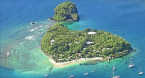 Young Island - Aerial Shot
