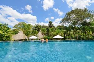 Chaa Creek eco infinity swimming pool